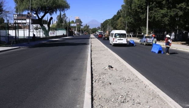 Gobierno de la Ciudad reporta 65% de avance en rehabilitación de Avenida Xonaca