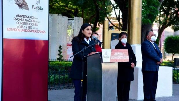 Conmemora Ayuntamiento de Puebla el aniversario de la promulgación de las constituciones